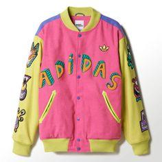 Adidas OBYO Jeremy Scott  x Kenny Scharf Varsity Jacket S M L XL