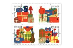 Christmas stamps from Sweden designed by Siri Ahmed Backström.
