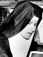 """The late Sister Corita Kent, a Fort Dodge native and once the nation's best-known nun, won fame as a serigraph artist. Her bright, colorful silk-screen prints were the rage of the 1960s.   She designed the United States' first """"Love"""" postage stamp."""