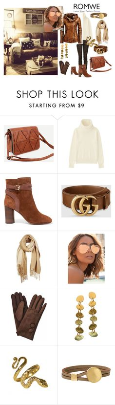 """ROMWE."" by stavrosdragatakis on Polyvore featuring Balmain, Uniqlo, Ash, Gucci, Unpaired, Quay and dragatakisjewellery"
