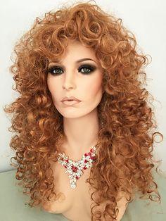 Lioness Wig, Light Ginger, Curls