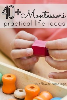 40 montessori practical life ideas