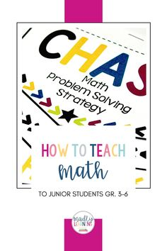 How to teach Math to junior students, grade 3-6. Inquiry Based Learning, Teaching Math, Math Problem Solving, Math Problems, Number Sense, Teacher, Classroom, Grade 3, Students
