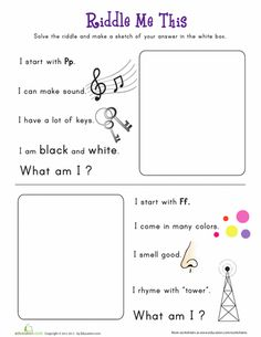 1000 images about preschool riddles on pinterest riddles worksheets and comprehension. Black Bedroom Furniture Sets. Home Design Ideas