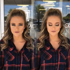 Homecoming season is here and I have all the homecoming dance makeup inspiration you'll ever need to win homecoming queen. Homecoming season is here, and I have all the homecoming dance makeup inspiration you'll ever need to win homecoming queen. Homecoming Queen, Homecoming Dance, Homecoming Makeup, Homecoming Ideas, Hair Styles Homecoming, Simple Homecoming Hairstyles, Homecoming Hair Down, Js Prom, Prom Hair Up
