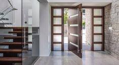 Pivot Door with Custom Sidelight