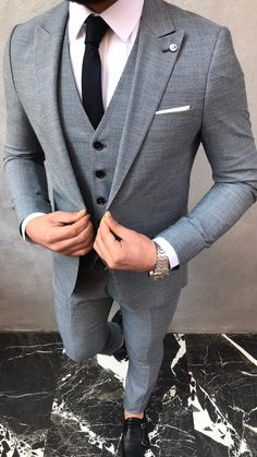 Men Dress Up, Dress Suits For Men, Best Smart Casual Outfits, Classic Outfits, Formal Outfits, Mens Fashion Suits, Mens Suits, Man Fashion, Men's Business Outfits