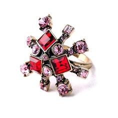 Starburst Ring Gorgeous Red & Pink Starburst Ring 🔸 Size: 6 🔸 Vintage Style Gold-tone Base Metals, Resin, Rhinestones 🔸 Nickel & Lead Free 🔸 Condition: New 🚫NO OFFERS🚫 Jewelry Rings