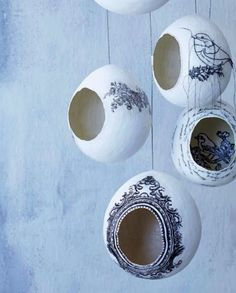 Could make paper mache eggs for storage!