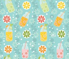 juicy fruit fabric by lilliblomma on Spoonflower - custom fabric