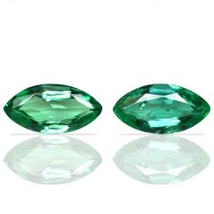 1.15 Cts Natural Top Green Emerald Unheated Marquise Cut Pair Zambia 8x4 mm 2 Pc