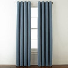 Grommet Blue Curtains D For Window Jcpenney
