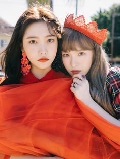 I couldn't tell if is lt was joy or yeri at first lmao Wendy and Yerim / yeri for perfect velvet album teaser images