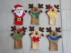unos lindos títeres muy navideños