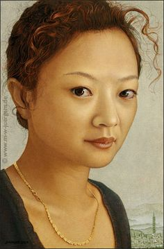 Manfred W. Jürgens > Huiwen Chang, 2007, Oil and Egg Tempera on Canvas on Panel, 0,35 x 0,23 m