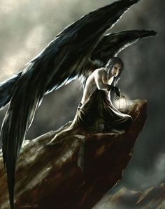 dark angel --- I'm not sure if I'll have angels in my story, but this is just kind of cool. Also I might be able to make this into a faerie idea or something.