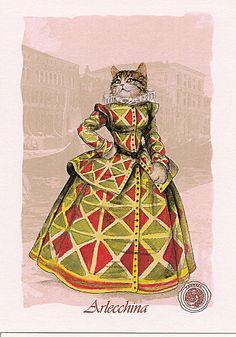 arlecchina Pierrot, Night Circus, Pantomime, Cat Crafts, Cat Art, Art Inspo, Artsy, Friends, Masquerades