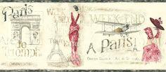 Vinilo decorativo Cenefa Paris