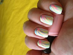 splash of bright color nails