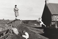 Photograph taken by Linda of Paul, Stella and James McCartney. A much loved and  modest farmhouse in High Park on the Kintyre Peninsula in Scotland in 1982. Paul bought the small farm after the breakup of the Beatles in 1970 and it saved him from the drug and the heavy drinking scene of London nightclubs. The simple lifestyle inspired him to write the song, The Long and Winding Road.
