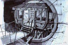 Grim Fandango: Bowlsley's Hideout concept art by Peter Chan