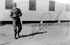 This RARE photo of Private Presley at Fort Hood, TX was taken during his eight weeks of basic training in April/ May 1958.  Elvis Presley signed this photo for Frank Rowe of Hershey, Pennsylvania who served alongside him. The two attended basic training together alongside 172 other soldiers at the training camp and  also shipped together to Germany in September 1958. See a photo of Frank Rowe and Elvis Presley here: https://www.pinterest.de/pin/380906080973652665/