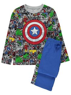 2 Pack Marvel Avengers Pyjamas, read reviews and buy online at George at ASDA. Shop from our latest range in Kids. Toddler by day, superhero by night! This p...