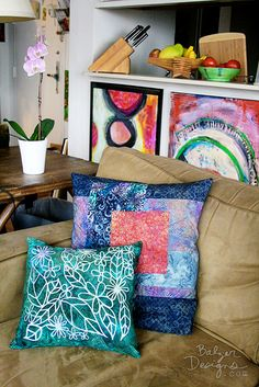 Pillow covers designed and nade by Julie Balzer.  So talented!!