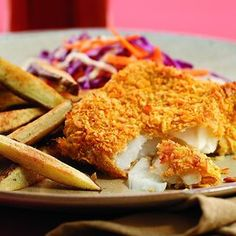 Oven Fried Fish, Fried Fish Recipes, Baked Fish, Seafood Recipes, Cooking Recipes, Healthy Recipes, Cooking Fish, Healthy Foods, Cooking Steak