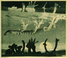 Hannah Höch, Sea Serpent, 1937 Photomontage, 8 3/4 x 10 inches (Institute für Auslandsbeziehungen, Stuttgart)