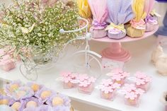 Enchanted Butterfly Garden Birthday Party with baby breath