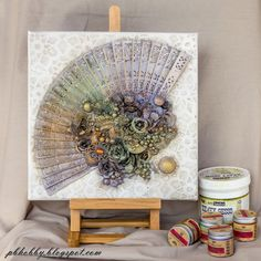 Pascale B.'s Gallery: Fan - Mixed media Place Dt