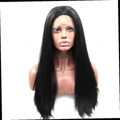 41.07$  Watch now - http://alisr6.worldwells.pw/go.php?t=32782276007 - 26''Long Straight Black Lace Front Synthetic Wigs For Black Women Natural Female Wig Lace Front Synthetic African Lace Hair Wigs 41.07$