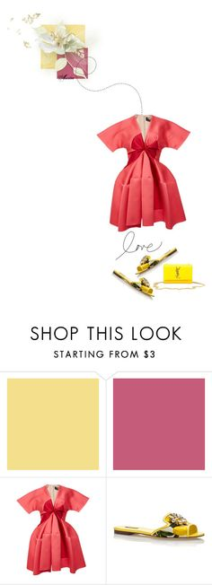 """""""L O V E..."""" by wodecai ❤ liked on Polyvore featuring Paule Ka, Dolce&Gabbana and Yves Saint Laurent"""