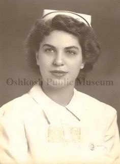 Photograph from WWII of Mary Ann Toepfer, a member of the United States Navy Nurse Corps. (Oshkosh Public Museum)