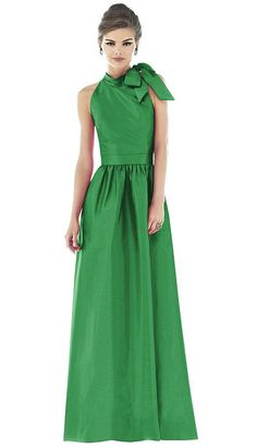 Dessy Alfred Sung High Neck Long Dress with Bow#Repin By:Pinterest++ for iPad#