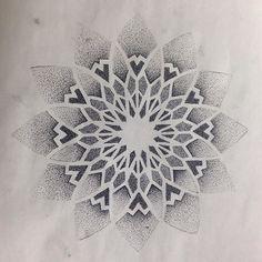 Pics Of My Favorite Geometric Tattoos - Mandala Tattoo Design, Dotwork Tattoo Mandala, Geometric Mandala Tattoo, Mandala Flower Tattoos, Tattoo Designs, Designs Mehndi, Geometric Tattoos, Dot Tattoos, Neue Tattoos