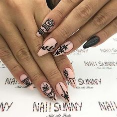 Nail Ideas to Inspire Your Next Mani: ELEGANT COFFIN NAILS; Nail trends are always changing which means you will never run out of new nail designs to try. With all that choice though, deciding on what nails to have next can be difficult! Cute Acrylic Nails, Acrylic Nail Designs, Cute Nails, Pretty Nails, Nail Art Designs, Lace Nail Design, Nails Design, Sparkly Nails, Pink Nails