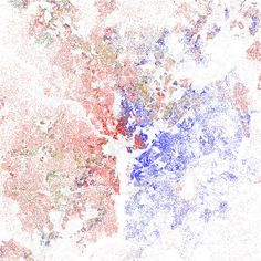 Maps of racial and ethnic divisions in US cities, inspired by Bill Rankin's map of Chicago, updated for Census 2010