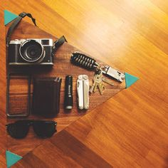 Fujifilm X100S IPhone 5S in Bumper Case Kalimala Trifold Wallet (bought in a small boutique in Venice, Italy) Led Lenser M1 Leatherman Wave Paracord Keychain - Keys - Black Fox Bulldog One Blade Titanium Coating Persol 9649 SUN [[MORE]]