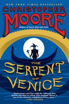 New York Times bestselling author Christopher Moore channels William Shakespeare and Edgar Allan Poe in The Serpent of Venice , a satiric Venetian gothic that brings back the Pocket of Dog Snogging, the eponymous hero of Fool , along with his sidekick, Drool, and pet monkey, Jeff. Venice, a long time ago. Three prominent Venetians await their most loathsome and foul dinner guest, the erstwhile envoy of Britain and France, and widower of the murdered Queen Cordelia: the rascal Fool Pocket…