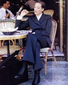 Vogue Editorial October 1993 - Tatjana Patitz by Pamela Hanson 90s Fashion, Vintage Fashion, Fashion Outfits, Womens Fashion, India Fashion, High Fashion, Elegantes Outfit Frau, Pamela Hanson, Tatjana Patitz