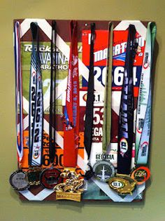 How to display your medals in a cute way For my boys wrestling medals