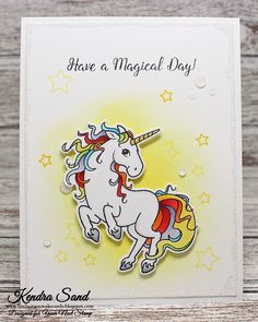 Your Next Stamp:  Magical Unicorn stamp set #yournextstamp