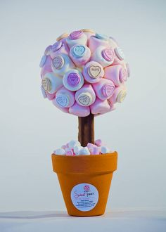 Marshmallow Love Heart® Tree by Sweet Trees, the perfect gift for Explore more unique gifts in our curated marketplace. Valentine Crafts, Valentine Day Gifts, Candy Trees, Sweet Trees, Heart Tree, Boyfriend Crafts, Candy Bouquet, Mo S, Valentine's Day Diy
