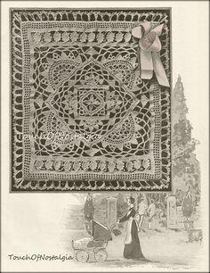 Crochet Baby SHAWL Antique  Crochet Pattern   by touchofnostalgia7