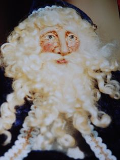 OOAK Victorian Santa with hand sculpted papier mache face. 2001.  sold TK