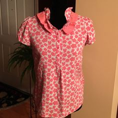 Boden blouse Very cute spring blouse by Boden. Worn very little. Size UK12/US 8.  Fits like a small Boden Tops Blouses