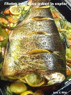 Romanian Food, Prosciutto, Fish Recipes, Seafood, Pork, Food And Drink, Turkey, Meat, Cooking