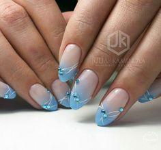Babyboomer Nägel Ohne Titel - Top 3 Reasons to Consider Laser Hair Removal The laser hair Blue Nails, Glitter Nails, My Nails, Fancy Nails, Pretty Nails, French Tip Nail Art, Chic Nails, Oval Nails, Dream Nails